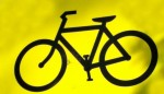 black-bike-on-yellow
